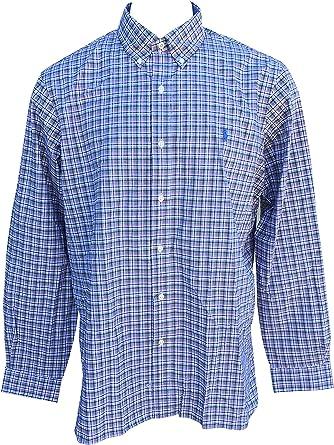 Ralph Lauren camisa de algodón de sarga con botones de ajuste ...