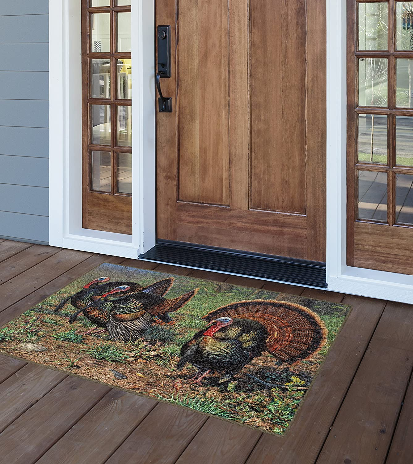 Brumlow Mills EW10121-30x46 Grounded in Tradition Wild Turkey Rug 26 x 310 Multi-Colored