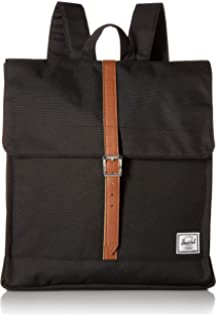 a13996981c Herschel City Mid-Volume Backpack Black Tan Synthetic Leather One Size