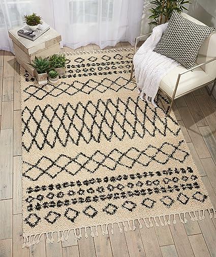 rugs shag dp grey inches traditional vintage garden runner moroccan amazon by outdoor area rug feet com trellis x