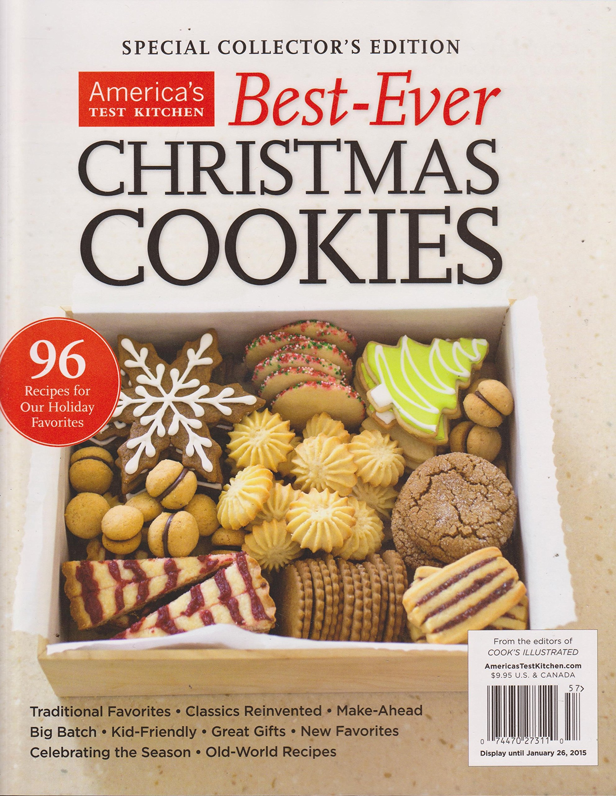 America S Test Kitchen Best Ever Christmas Cookies Magazine 2014