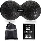 NOQUIT ® Duo-Ball mit Transportbeutel - Peanut Ball mit gedruckter Anleitung in unterschiedlichen Härtegraden - Der stabile Massageball für eine effektive Trigger-Point-Therapie