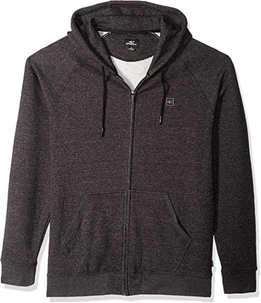 New O/'Neill The Standard Zip Hoody Heather Black