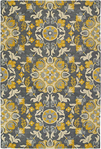 Kaleen Global Inspiration Collection Hand Tufted Rug, 9 x 12 , Grey