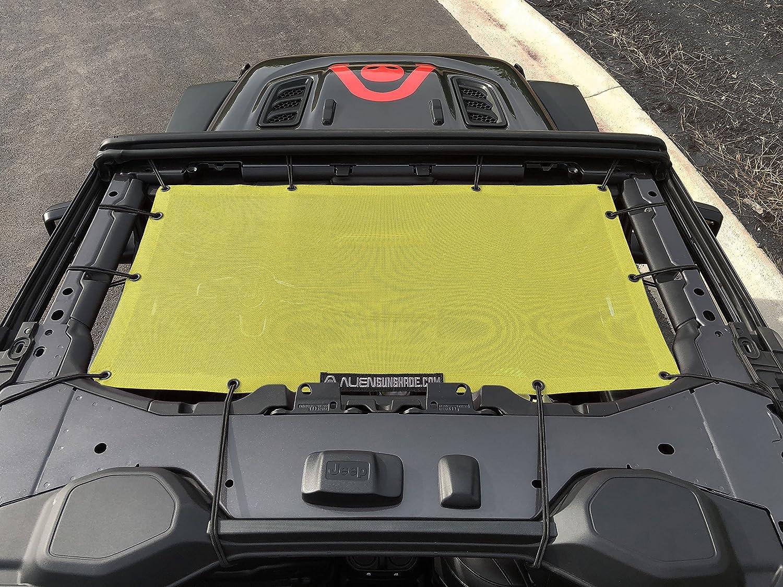 ALIEN SUNSHADE Jeep Wrangler JL Front Sunshade Mesh Top for 2018 Jeep Wrangler 2 door or 4-door JL and JLU Unlimited Wine
