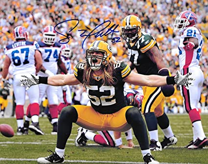 79e916a57 Image Unavailable. Image not available for. Color  Clay Matthews Green Bay  Packers Autographed Signed ...
