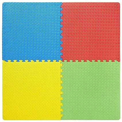 FABELBUNT® 4 juegos de colchonetas puzle (colchonetas de deporte, de bebé, de niños, de yoga, de suelo, de fitness)