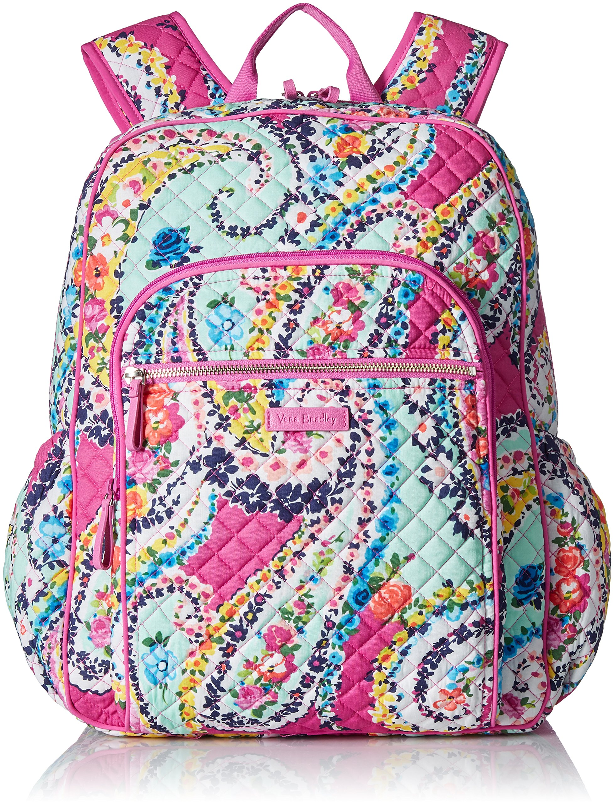 Vera Bradley Iconic Campus Backpack, Signature Cotton, Wildflower Paisley by Vera Bradley (Image #1)