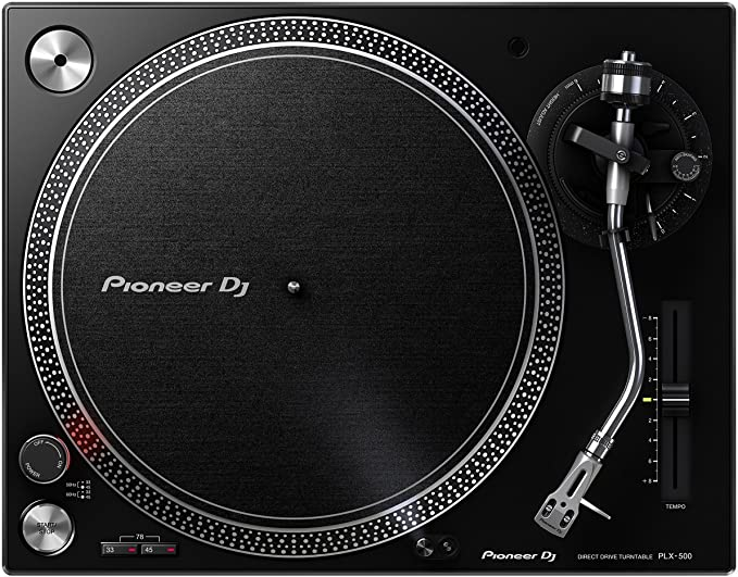 Pioneer DJ PLX-500-K Turntable - Precise Sound with a Durable Build