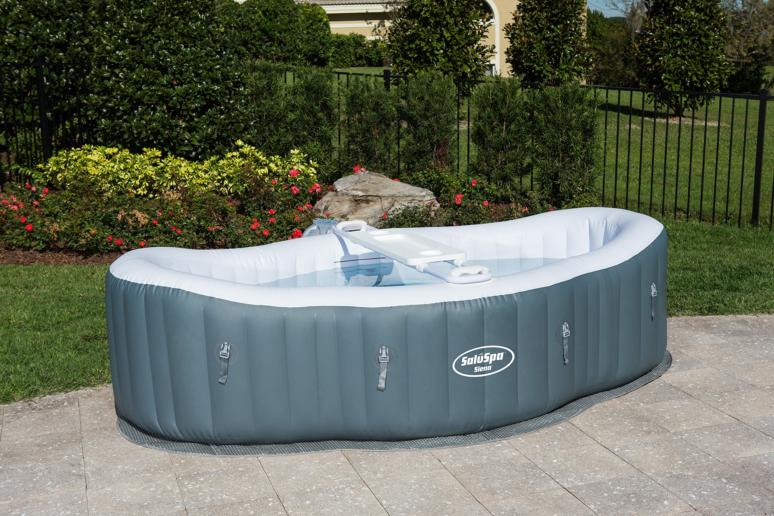 Inflatable Hot Tub Spa Portable Outdoor Porch Lawn Automatic Air ...
