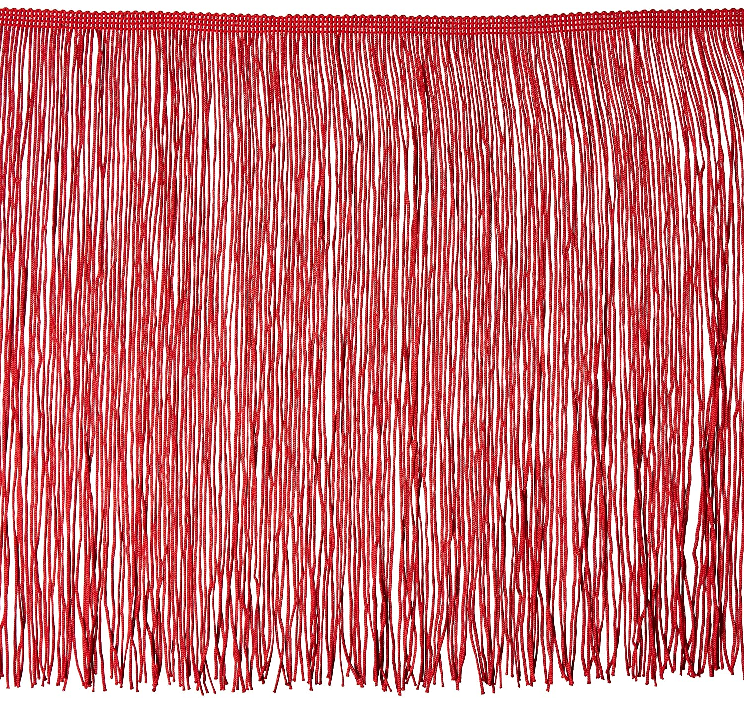 Expo International 12in Chainette Fringe Trim Red