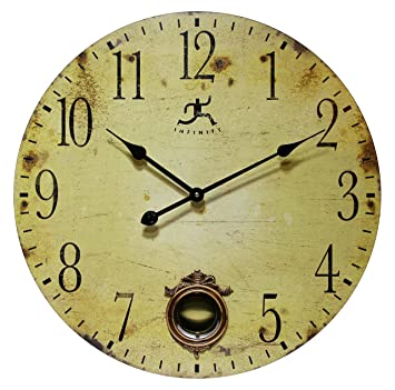 24 Inch Large Rustic Pendulum Wall Clock Cottage Grove By Infinity Instruments
