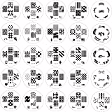 Princes Set of 25 Nail Art Design Stamps Stamping Manicure Image Plates by Gals