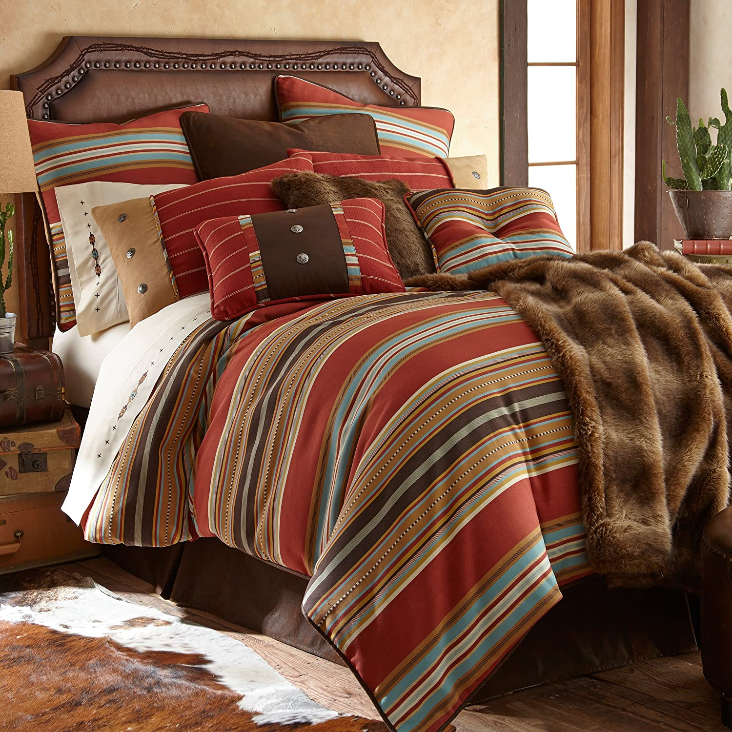 HiEnd Accents 5 Piece Calhoun Western Bedding Set, Super King