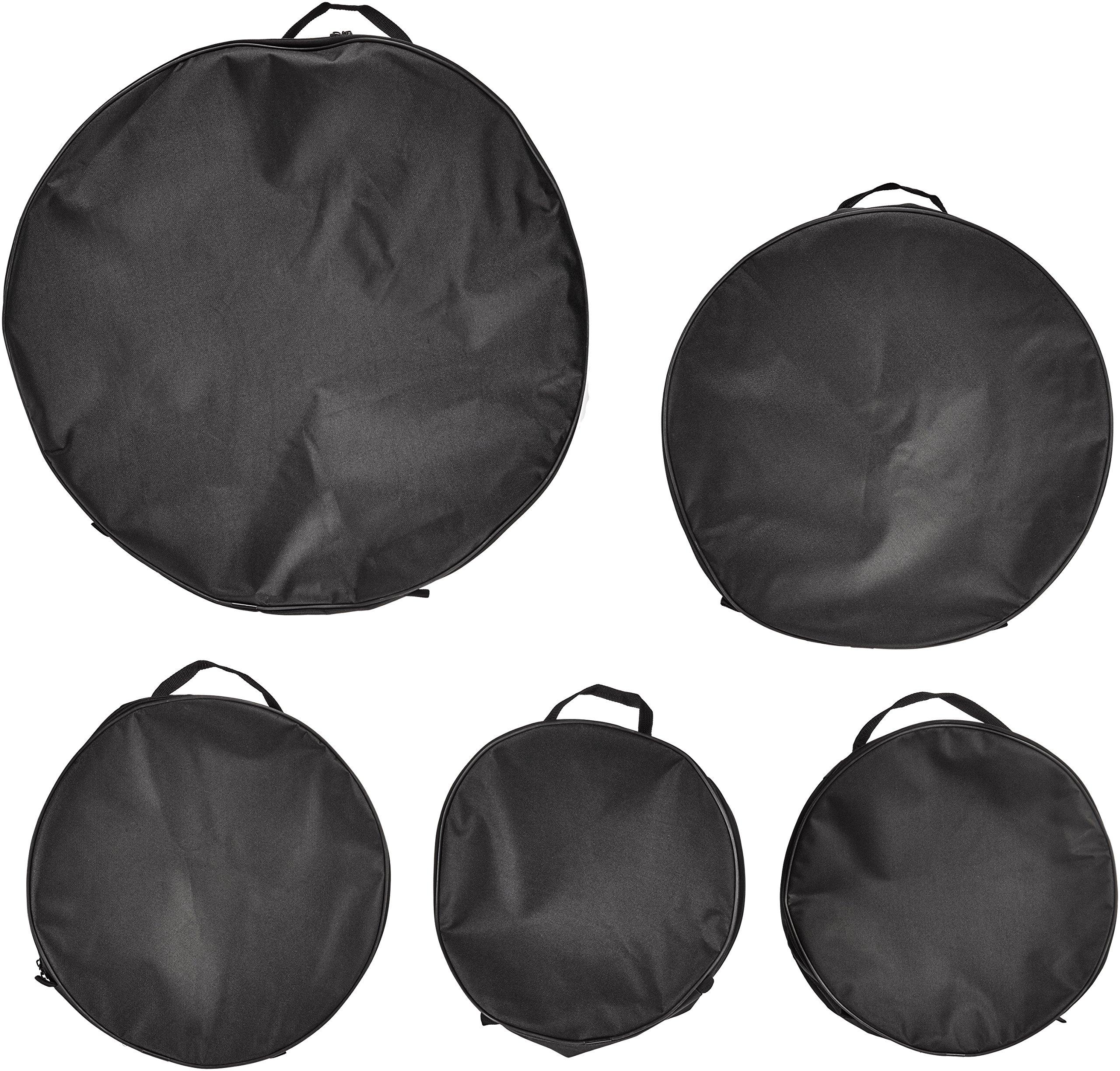 Universal Percussion Pro 4 DMC500 Nylon Standard Drum Bag Set, 5-Piece
