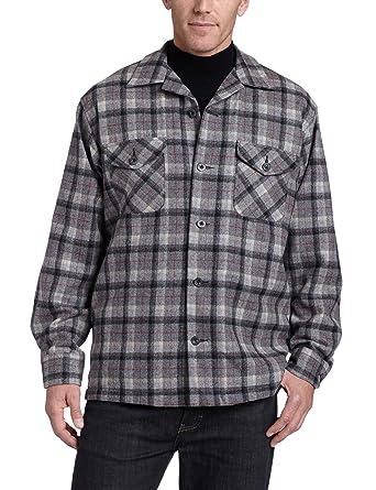 Pendleton Men's Quilted Shirt Jacket, Grey Mix/Black Plaid, Medium ... : quilted shirt mens - Adamdwight.com