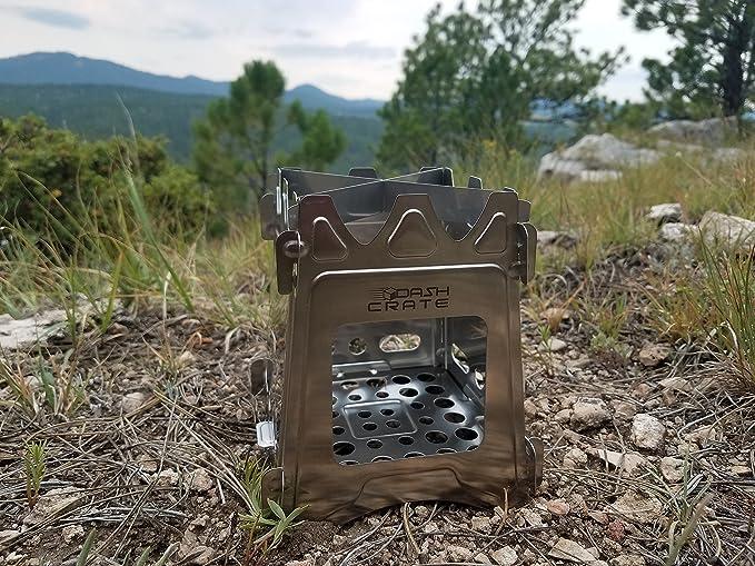 Dash Crate Estufa portátil Ultraligera con Bolsa de Transporte de Nailon para Camping, Senderismo, Supervivencia. Un Solo Quemador Utiliza Cualquier ...