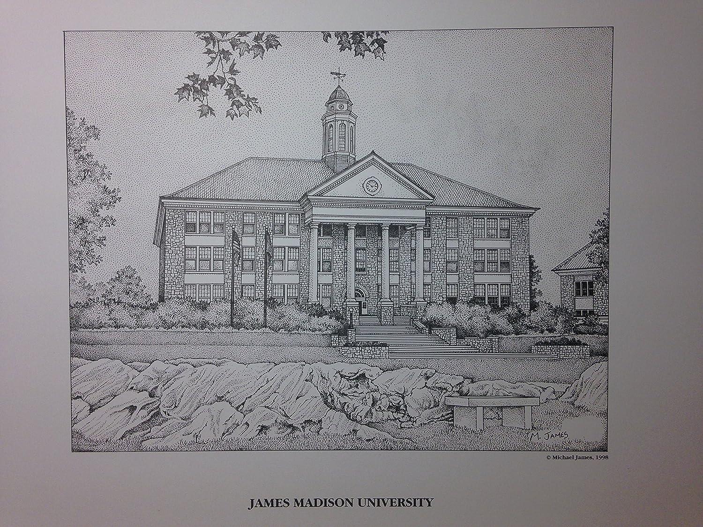 James Madison University 11x14 pen and ink print