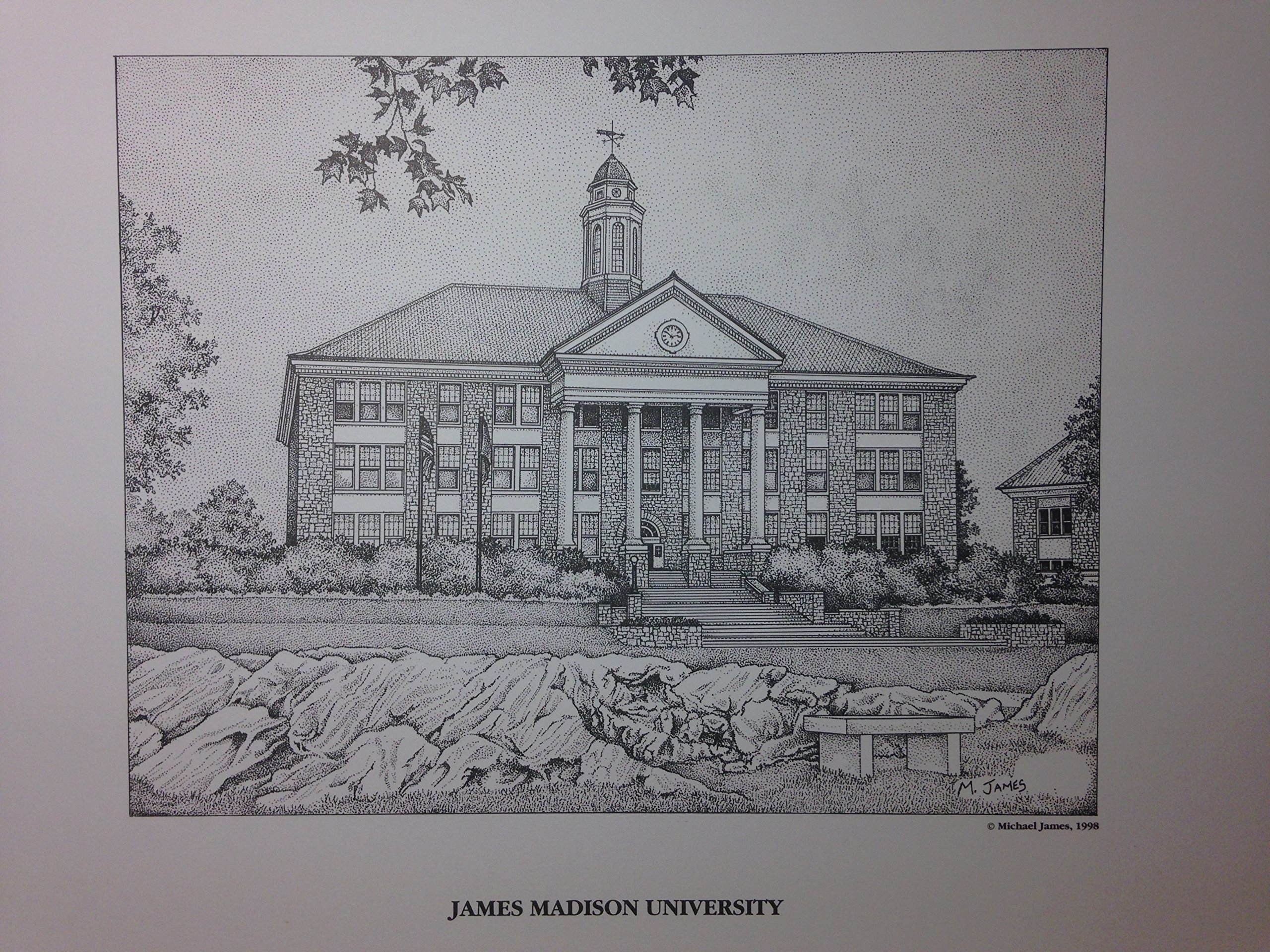 James Madison University 11x14 pen and ink print