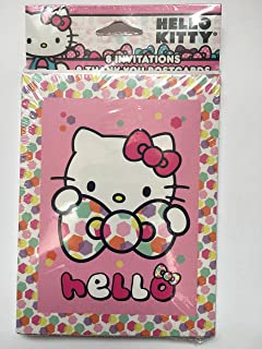 hello kitty party invitations w envelopes thank you postcards and checklist - Hello Kitty Party Invitations