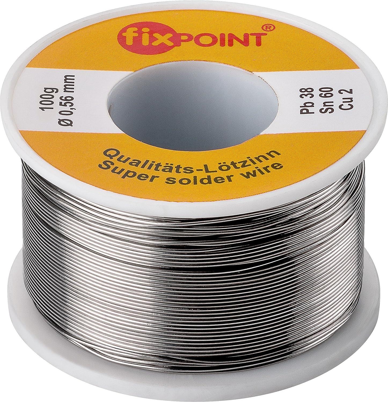 Fixpoint 51062 Lötzinn, 0,56mm Durchmesser, 100g Rolle: Amazon.de ...