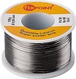 Fixpoint WT-51062 Rotolo Stagno per Saldatura, 100 gr, Argento, Diametro 0,56 mm