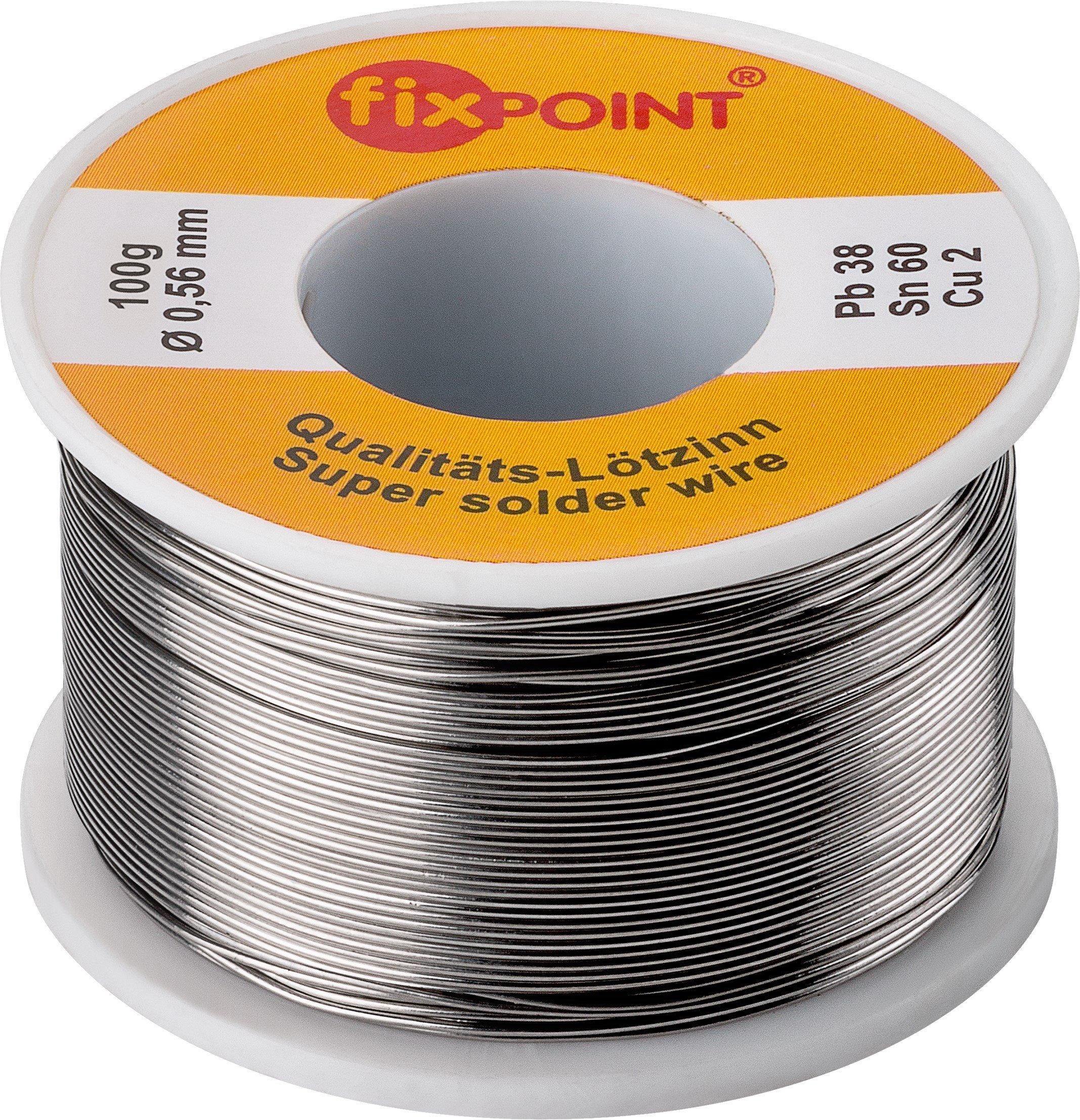 Fixpoint WT-51062 Rotolo Stagno per Saldatura, 100 gr, Diametro 0,56 mm, Argento, 1 pz. product image