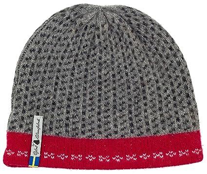 6da69012bd0 Swedish 100% Merino Wool Warm Soft and Thick Beanie Hat Cap (Skaftö Grå)