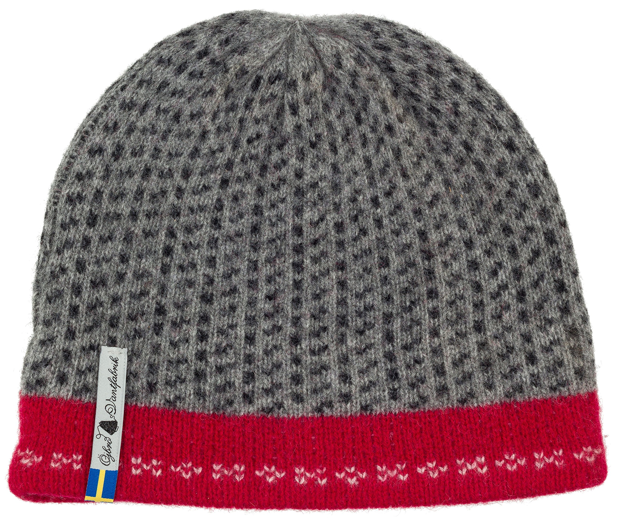 Swedish 100% Merino Wool Warm Soft and Thick Beanie Hat Cap (Skaftö Grå)