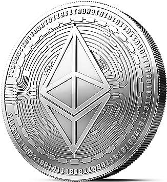 Moneda física de Ethereum revestida en plata auténtico. Una verdadera pieza de coleccionista, con estuche protector. Una adquisición obligada para ...