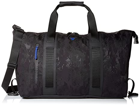 c5412e9b17d0 Amazon.com  Armani Jeans Men s Jacquard Rubberized Fabric Weekender Bag   Clothing