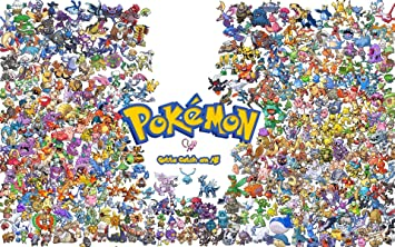 picture relating to Pokemon Posters Printable identify Pokemon Poster Anime Activity Online video (13 x 19)