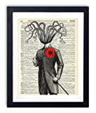 Amazon Price History for:Victorian Gentleman Octopus Upcycled Vintage Dictionary Art Print 8x10