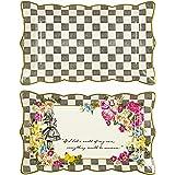会说话的桌子 TRULY 爱丽丝食品菜 platter 30.5x 19.1cm 适用于茶话会或生日礼物,多色 多色