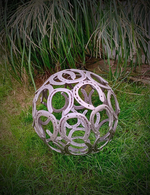 Gartenkugel aus echten Hufeisen Hufeisenkugel ca Kugel 42cm
