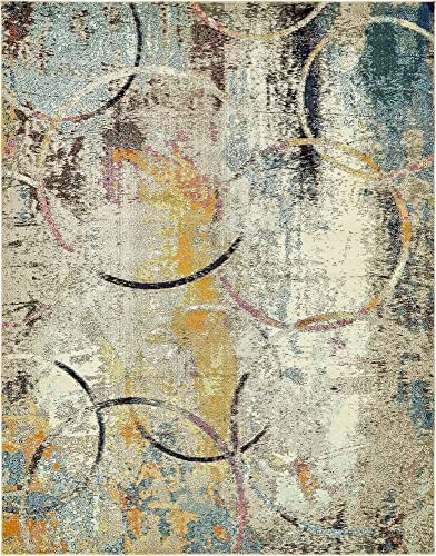 Unique Loom Chromatic Collection Rustic Modern Abstract Colorful Multi Area Rug 8 0 x 10 0