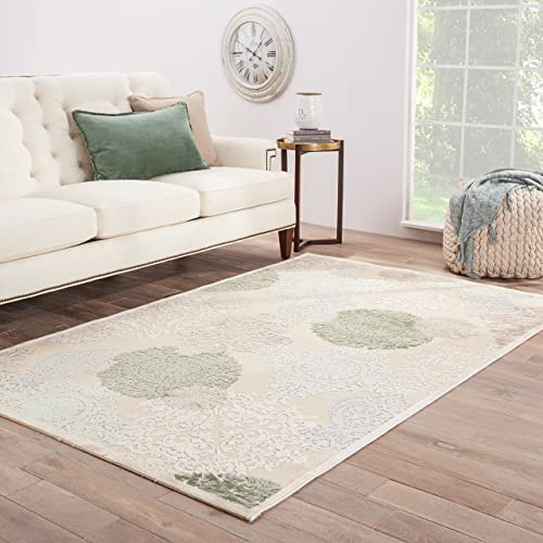 Jaipur Living Wistful Damask White Area Rug 7 6 X 9 6