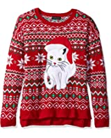 Alex Stevens Men's Fairisle Kitty Ugly Christmas Sweater at Amazon ...