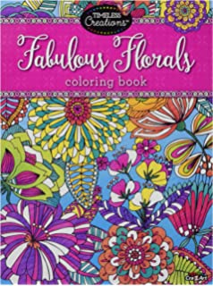 Cra Z Art Timeless Creations Adult Coloring Books Floral Fantasy Creative Book