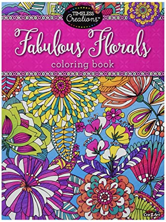 cra z art timeless creations adult coloring books floral fantasy creative coloring book