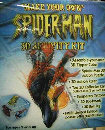 amazon com make your own spiderman 3d activity kit by marvel toys