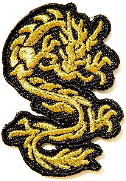Amazon com: Gold Chinese Dragon Lucky Fantasy Animal Yin Yang Kung