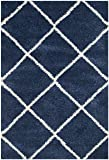 Safavieh Hudson Shag Collection SGH281C Navy and