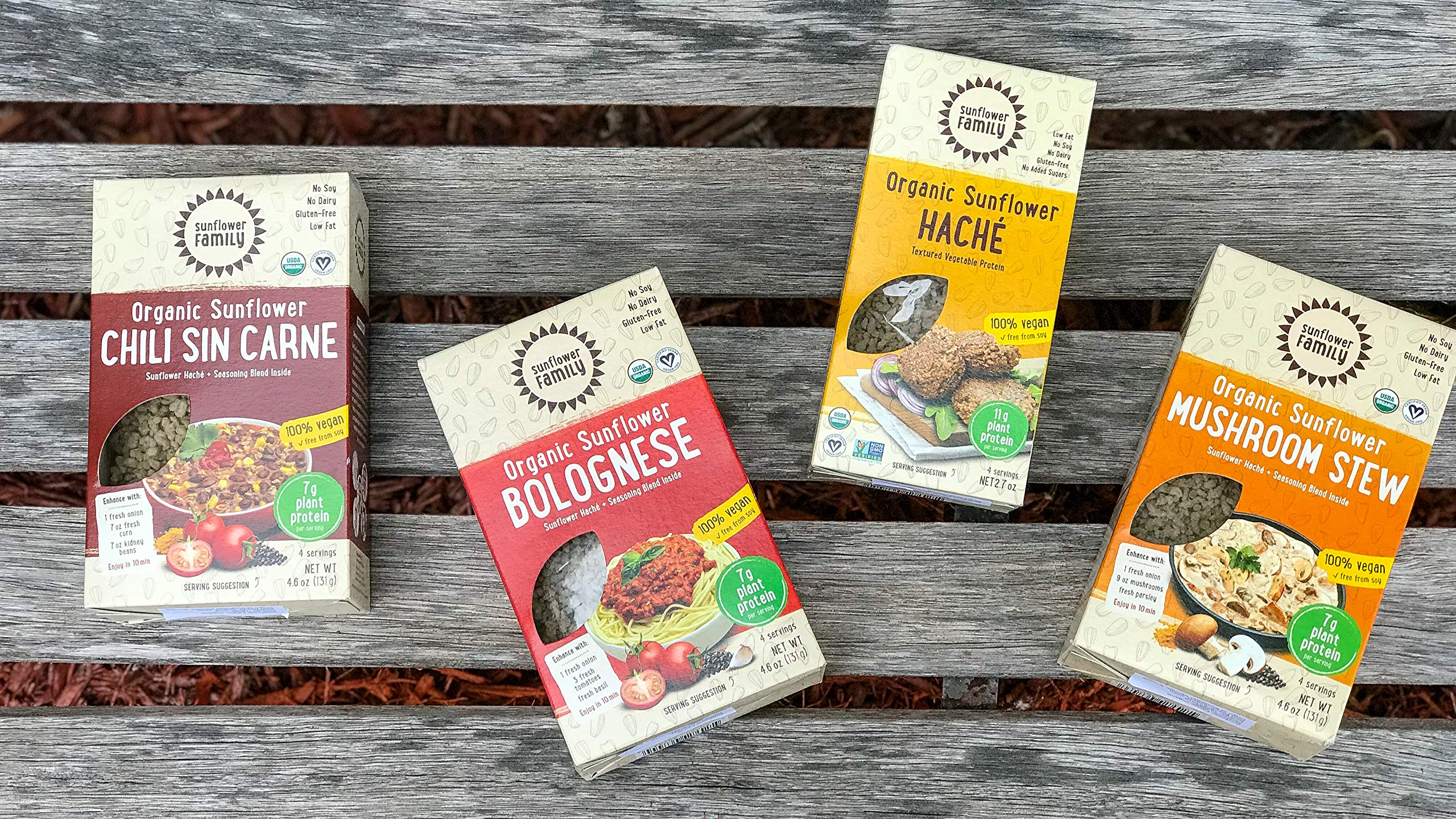 SunflowerFamily Variety Pack - Certified USDA Organic Meat Substitute From Textured Sunflower Protein - Soy, Dairy & Gluten Free by SunflowerFamily (Image #2)