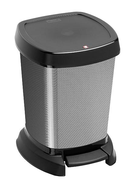 Rotho 7541080745 Paso - Cubo de basura (6 L), color negro
