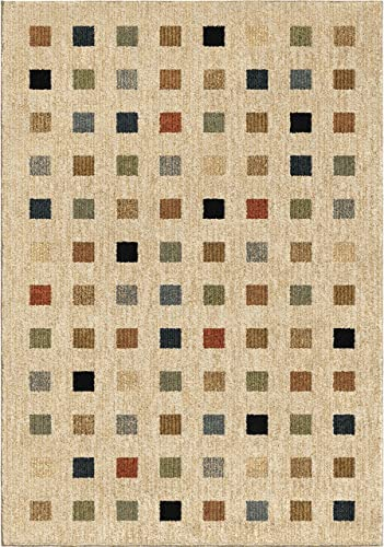 Orian Rugs Next Generation Uptown Squares Area Rug, 5 3 x 7 6 , Off-White