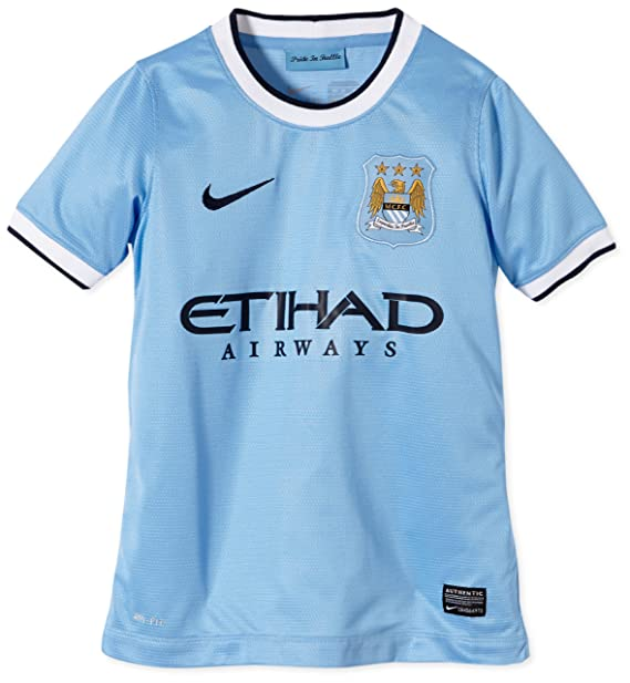 wholesale dealer 43e37 aa2df Amazon.com: Nike Manchester City Youth 13/14 Home Jersey ...