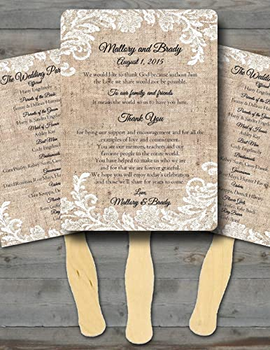 Amazon Personalized Wedding Fanswedding Fans For Guests
