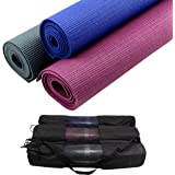 PROIRON Yoga Mat Exercise Mat with Free Travel Carry Bag for Home Gym Fitness and Camping 3.5mm or 6mm thick in Blue, Dark Green, Purple
