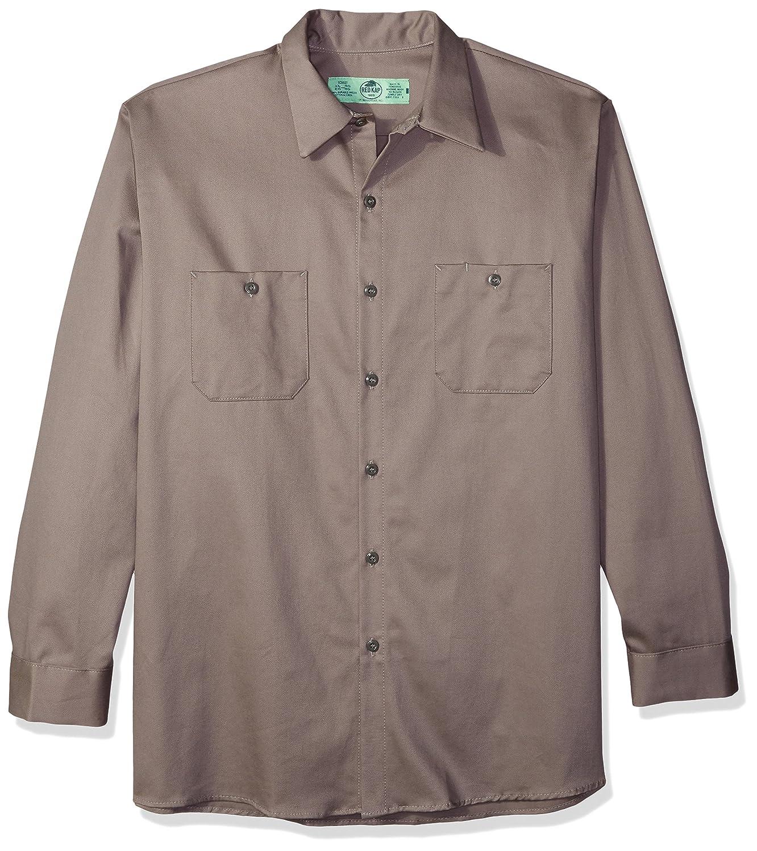 Red Kap Mens Wrinkle Resistant Long Sleeve Work/Shirt